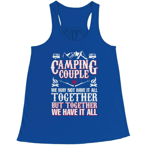 Image of Camping Couple - Long Sleeve - Bella Flowy Racerback Tank / Royal / s - Visualtshirt.com