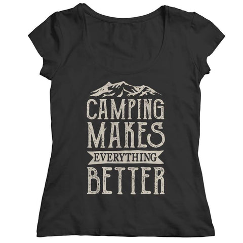 Image of Camping Makes everything better - Hoodie - Ladies Classic Shirt / Black / s - Hoodie - Visualtshirt.com