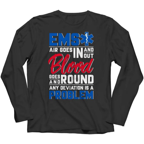 Ems Air goes in and out - Hoodie - Long Sleeve / Black / s - Hoodie - Visualtshirt.com