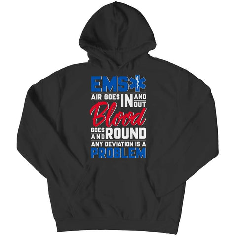Image of Ems Air goes in and out - Hoodie - Black / s - Hoodie - Visualtshirt.com