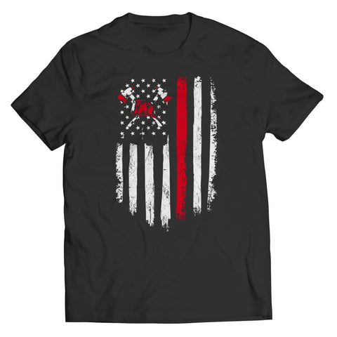 Image of Z--firefighter Axe American Flag - Hoodie - Unisex Shirt / Black / s - Hoodie - Visualtshirt.com