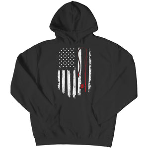 Fishing Flag - V-neck T-shirt - Hoodie / Black / s - V-neck - Visualtshirt.com