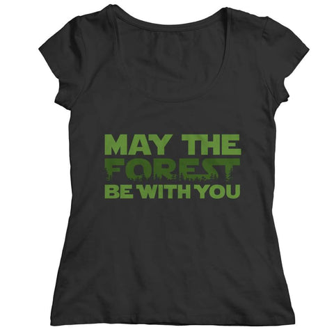 May the Forest be with you - Crewneck Fleece - Ladies Classic Shirt / Black / s - Visualtshirt.com