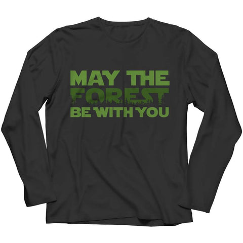 May the Forest be with you - Crewneck Fleece - Long Sleeve / Black / s - Visualtshirt.com
