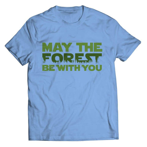May the Forest be with you - Crewneck Fleece - Unisex Shirt / Light Blue / s - Visualtshirt.com
