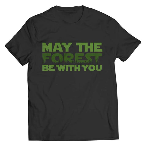 May the Forest be with you - Crewneck Fleece - Unisex Shirt / Black / s - Visualtshirt.com