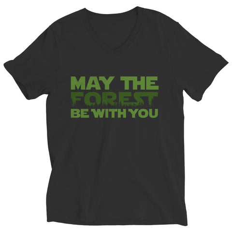 May the Forest be with you - Crewneck Fleece - Ladies V-neck / Black / s - Visualtshirt.com