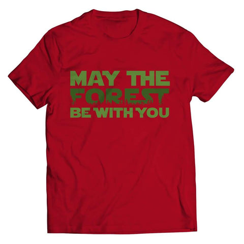 May the Forest be with you - Crewneck Fleece - Unisex Shirt / Red / s - Visualtshirt.com