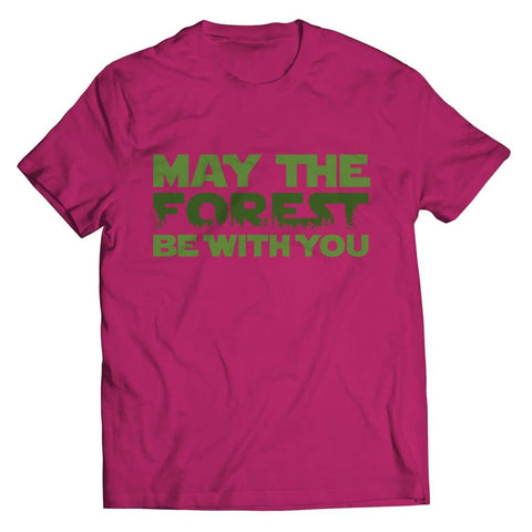May the Forest be with you - Crewneck Fleece - Unisex Shirt / Pink / s - Visualtshirt.com