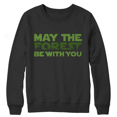 May the Forest be with you - Crewneck Fleece - Black / s - Visualtshirt.com