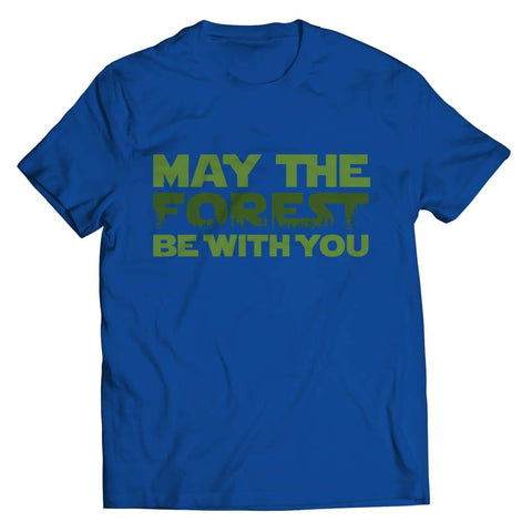 May the Forest be with you - Crewneck Fleece - Unisex Shirt / Royal / s - Visualtshirt.com