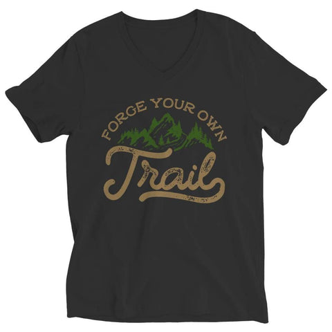 Image of Forge your own Trail - Long Sleeve - Ladies V-neck / Black / s - Visualtshirt.com
