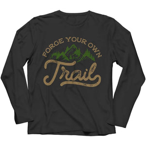 Forge your own Trail - Long Sleeve - Black / s - Visualtshirt.com