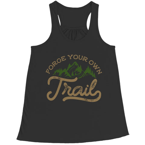 Image of Forge your own Trail - Long Sleeve - Bella Flowy Racerback Tank / Black / s - Visualtshirt.com