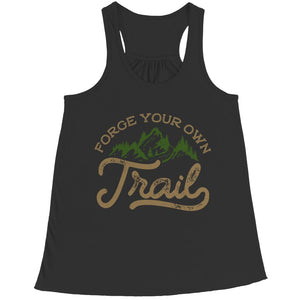 Forge your own Trail - Long Sleeve - Bella Flowy Racerback Tank / Black / s - Visualtshirt.com