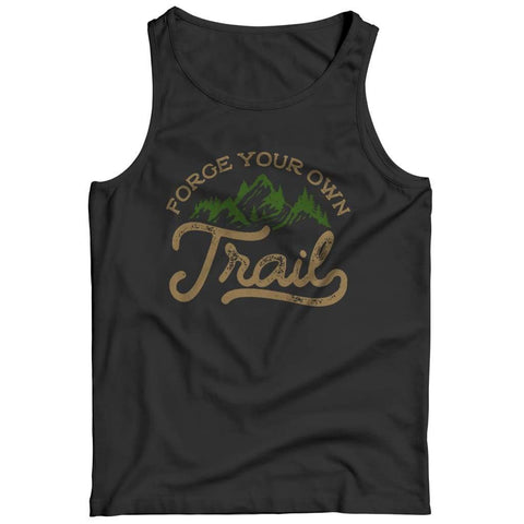 Forge your own Trail - V-neck T-shirt - Tank top / Black / s - V-neck - Visualtshirt.com