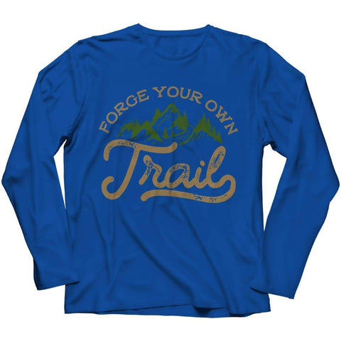 Forge your own Trail - V-neck T-shirt - Long Sleeve / Royal / s - V-neck - Visualtshirt.com