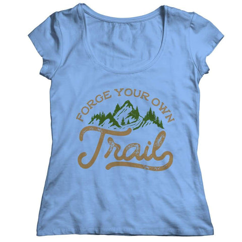 Image of Forge your own Trail - V-neck T-shirt - Ladies Classic Shirt / Light Blue / s - V-neck - Visualtshirt.com