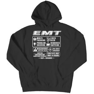 Funny Emt - Long Sleeve - Hoodie / Black / s - Visualtshirt.com