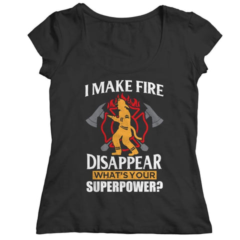 I Make fire Disappear what's your Super Power - Long Sleeve - Ladies Classic Shirt / Black / s - Visualtshirt.com