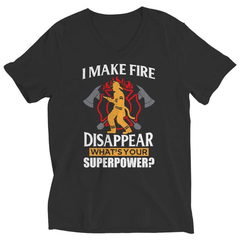 I Make fire Disappear what's your Super Power - Long Sleeve - Ladies V-neck / Black / s - Visualtshirt.com