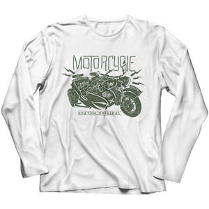 Motorcycle Wh 2846 Military Series - Crewneck Fleece - Long Sleeve / White / s - Visualtshirt.com