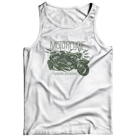 Image of Motorcycle Wh 2846 Military Series - Crewneck Fleece - Tank top / White / s - Visualtshirt.com