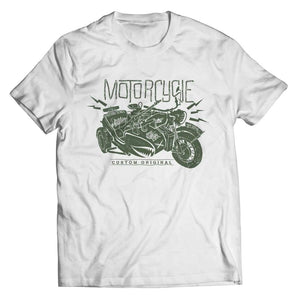 Motorcycle Wh 2846 Military Series - Crewneck Fleece - Unisex Shirt / White / s - Visualtshirt.com