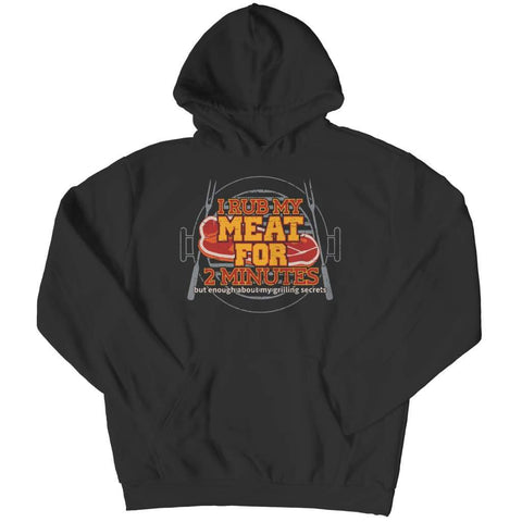 Image of I Rub my Meat for 2 Minutes - Hoodie - Black / s - Visualtshirt.com