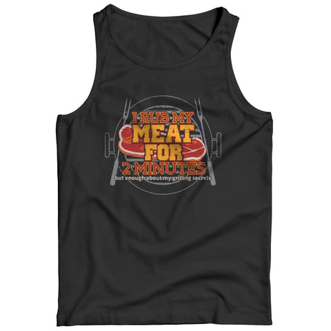 Image of I Rub my Meat for 2 Minutes - Hoodie - Tank top / Black / s - Visualtshirt.com