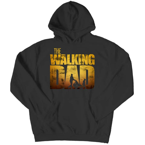 The Walking Dad - Crewneck Fleece - Hoodie / Black / s - Visualtshirt.com