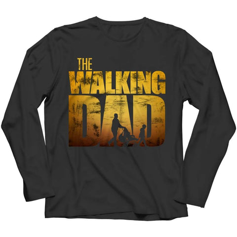 The Walking Dad - Crewneck Fleece - Long Sleeve / Black / s - Visualtshirt.com