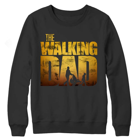 The Walking Dad - Crewneck Fleece - Black / s - Visualtshirt.com
