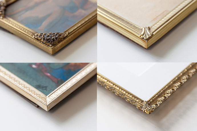 How to frame with a vintage look