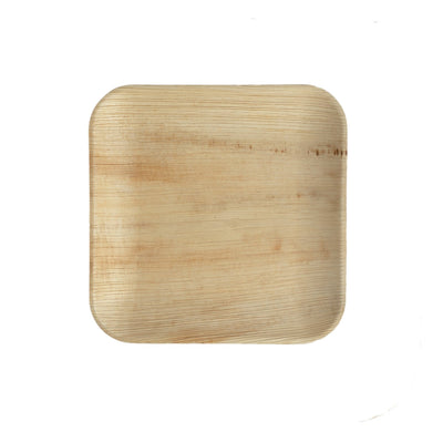Palm Leaf Square Plates