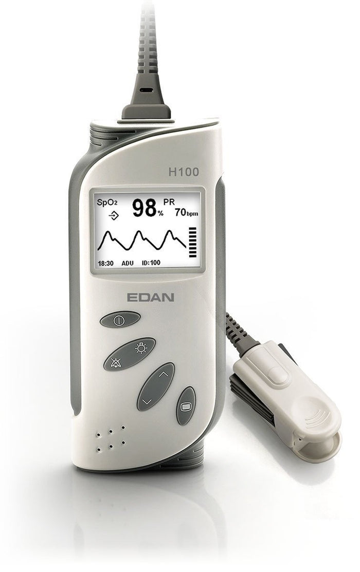 Edan H100B Pulse Oximeter with Adult and Infant Attachments