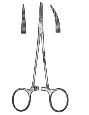 "Halstead Mosquito Forceps, Curved 5""-CLASS 1-Birth Supplies Canada"