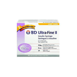 Insulin Syringe, With Ultra-Fine™ II Needle-Medical Supplies-Birth Supplies Canada