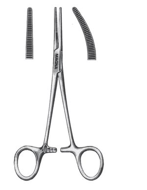 "Kelly Forceps, Curved 5.5""-CLASS 1-Birth Supplies Canada"