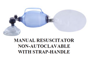 Manual Resuscitator w/strap handle ~ Disposable-CLASS 2-Birth Supplies Canada