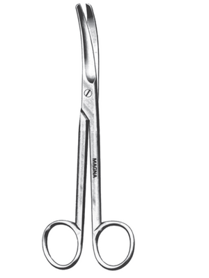 "Mayo Scissors, Curved 5.5""-CLASS 1-Birth Supplies Canada"