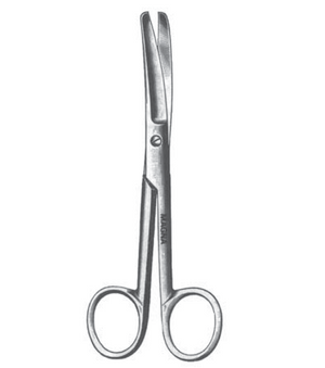 "Operating Scissors 5.5"" Curved Bl/Bl-CLASS 1-Birth Supplies Canada"