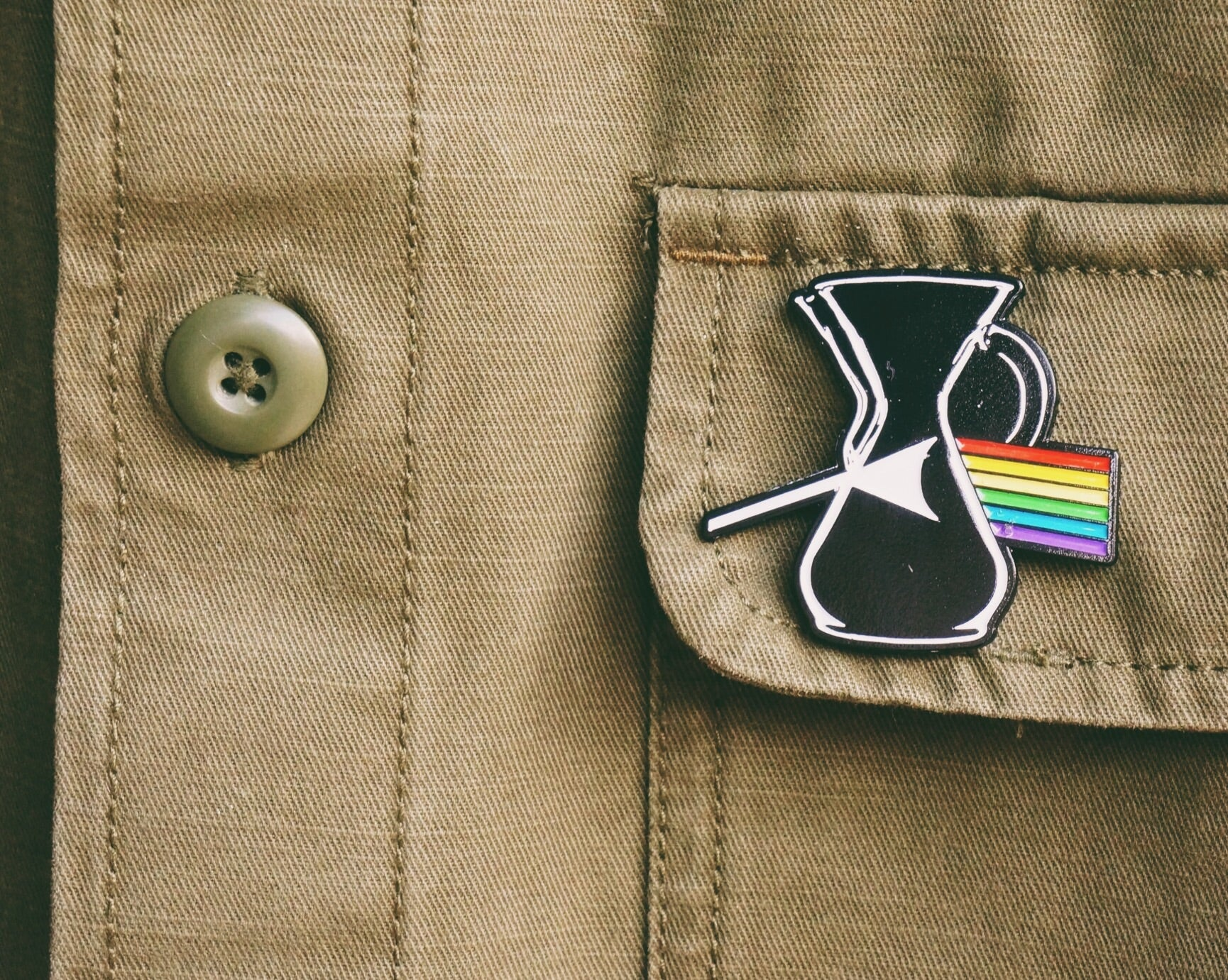 Darkside of the chemex pin - 2Camelz