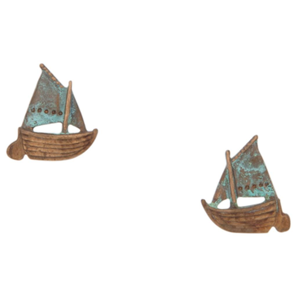 Gaff-Rigged Sailboat Earrings