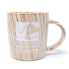 Wood-Patterned Ceramic Mug