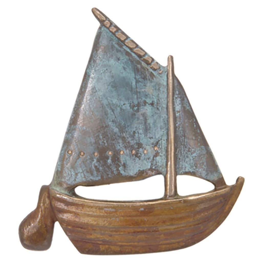Gaff-Rigged Sailboat Pin or Pendant