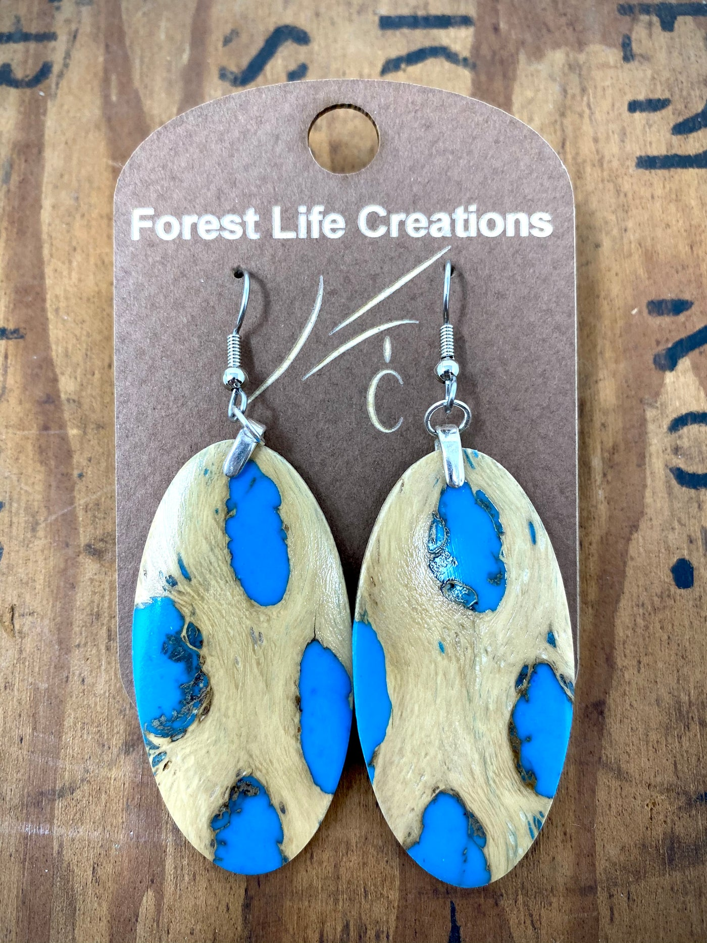 Forest Life Creations Cactus & Resin Earrings