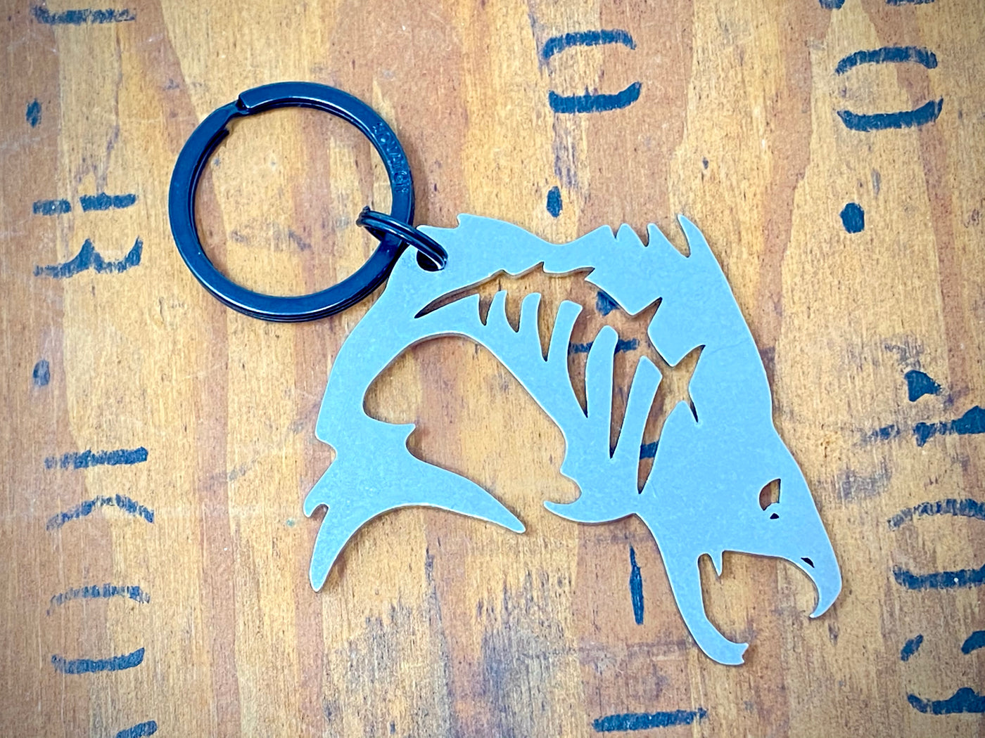 Tough Fish Bottle Opener Keychain