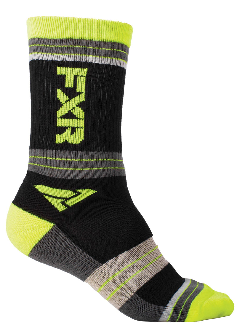OS --Black//Charcoal 2019 FXR MEN/'S TURBO ATHLETIC SOCKS 2 Pack