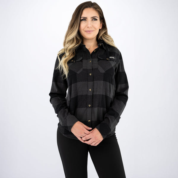 Women's Timber Hooded Flannel Shirt